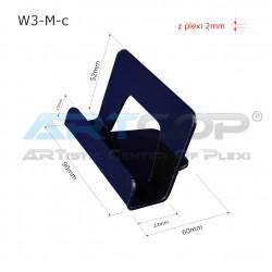 Wizytownik prosty W3-M - czarny