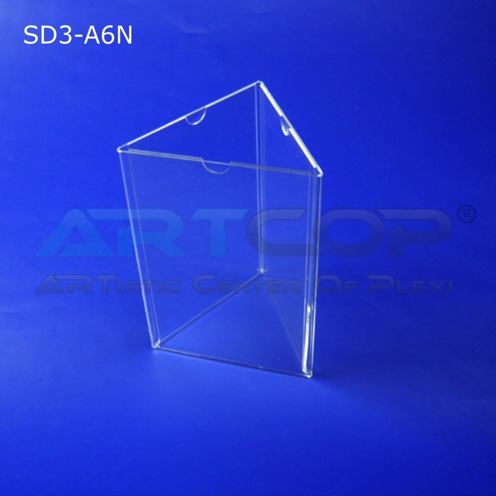 Stojak info A6 x3 PION typ D (delta z plexi) - SD3
