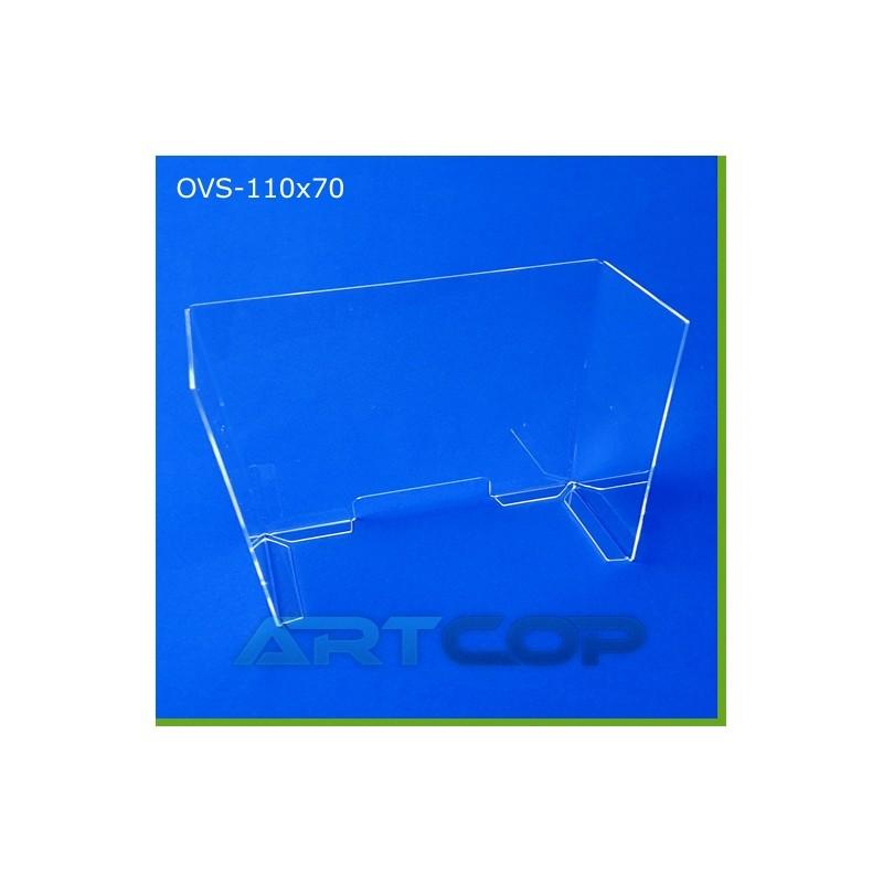 Osłona antywirusowa OVS - 110cm x 70cm x 21cm z poliwęglanu bezbarwnego 4mm