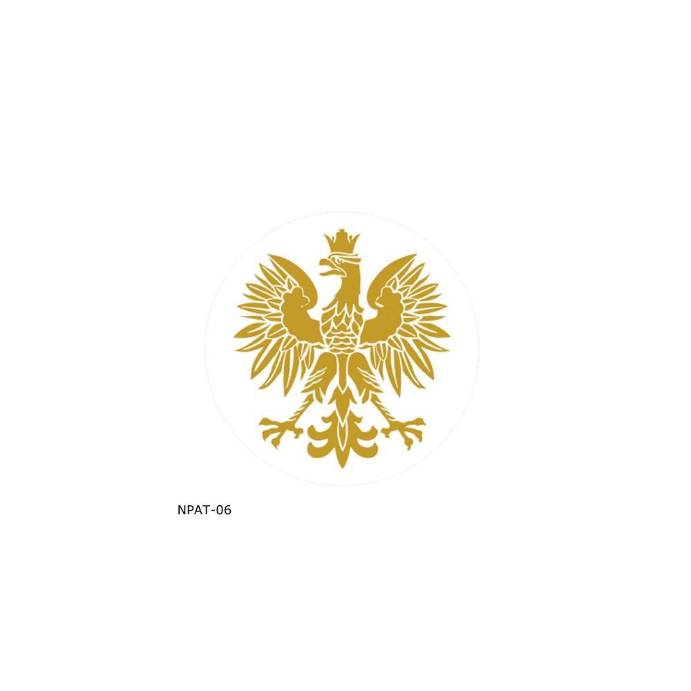 Naklejka Orzeł - złota