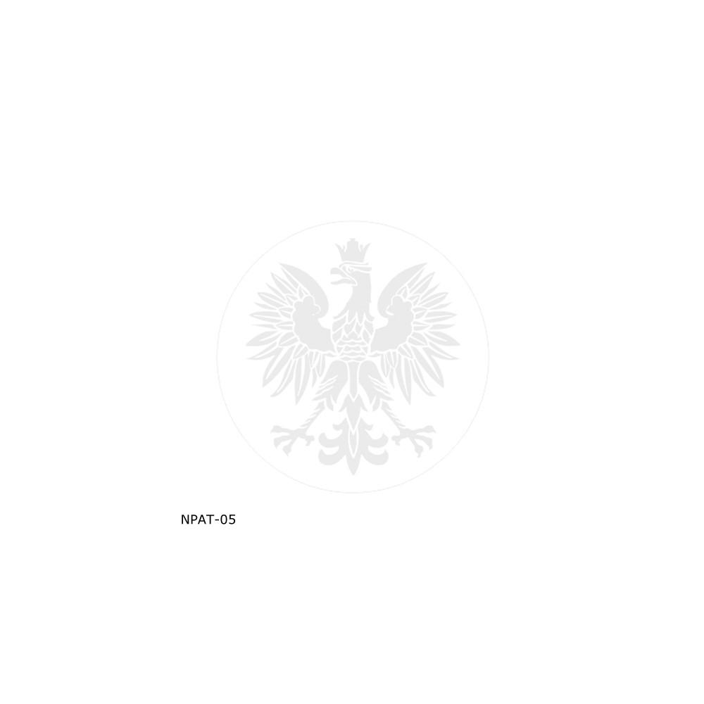Naklejka Orzeł - biała