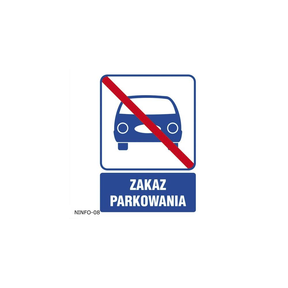 Naklejka informacyjna zakaz...
