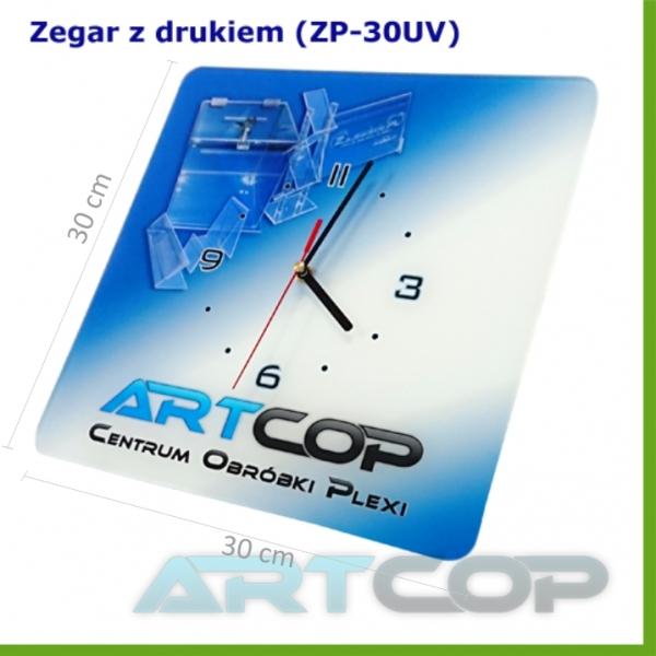 Zegar ścienny na zamówienie, Reklamówka