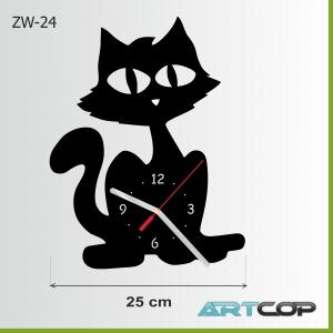 Zegar ścienny - kot MarJolki