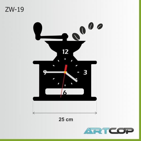 Zegar ścienny - MŁYNEK do kawy