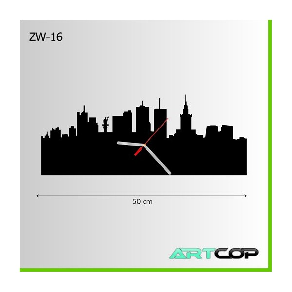 Zegar ścienny - panorama Warszawy