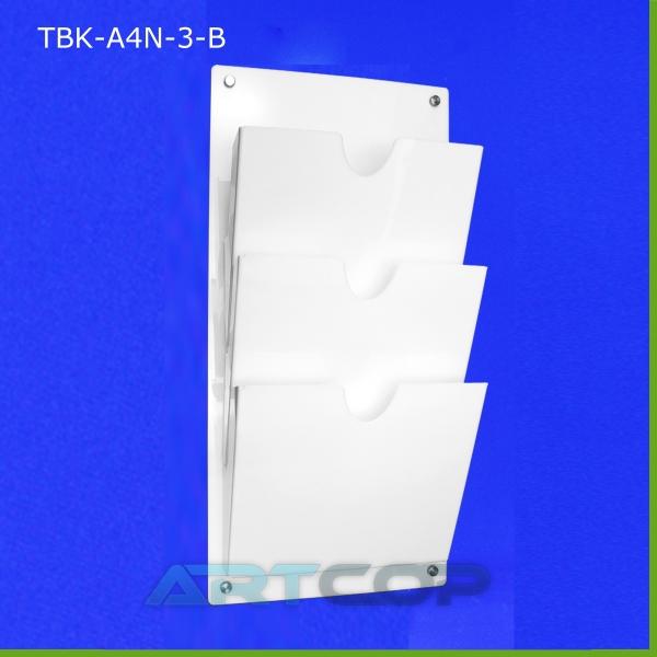 Tablica z kieszeniami A4 x3 PION z plexi opalowej, białej