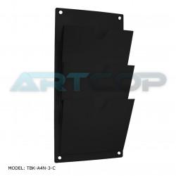 Tablica z kieszeniami A4 PION z czarnej plexi na dystansach