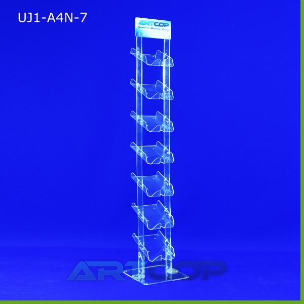 Stojak podłogowy A4 PION skrecany - 7xA4 wys. 180 cm