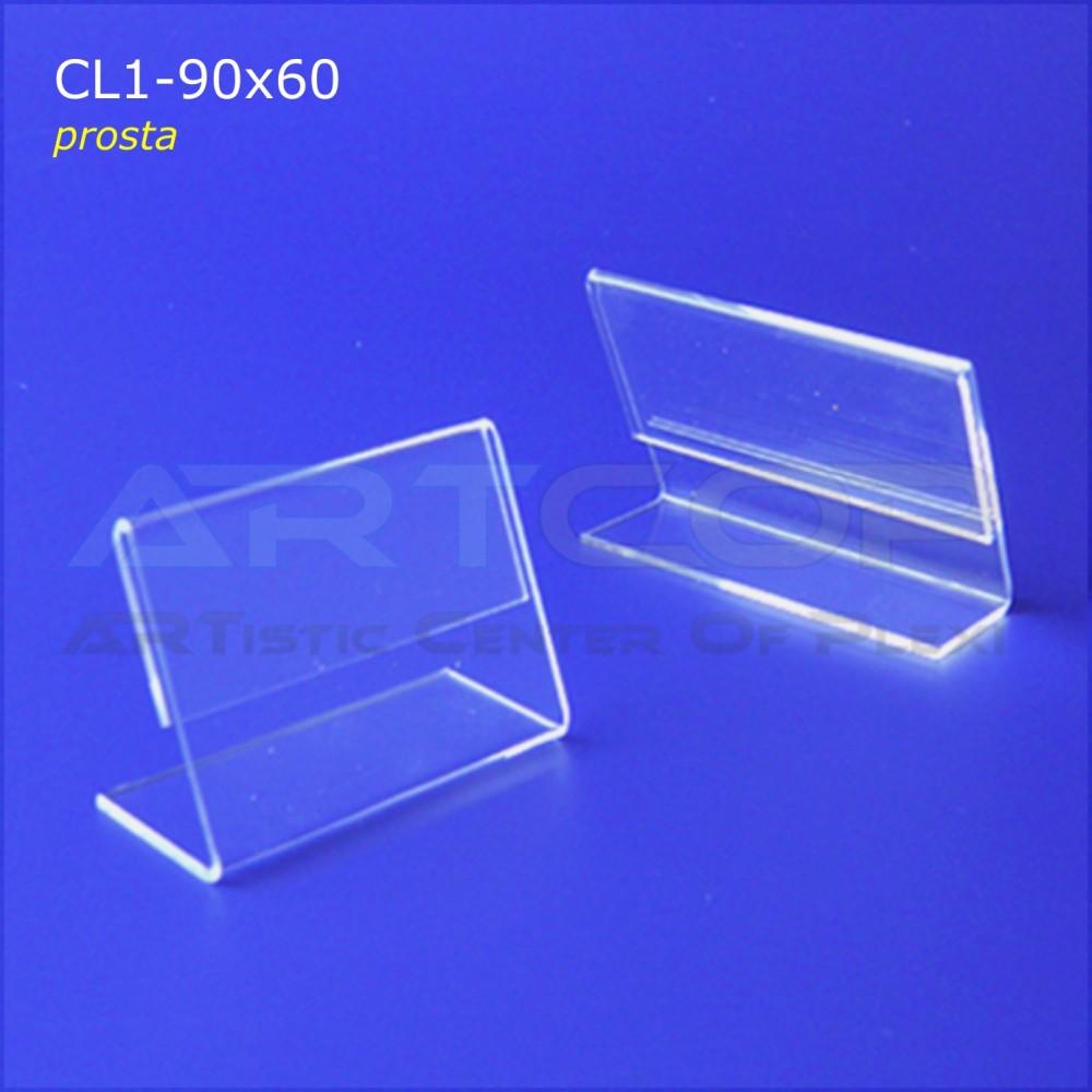 Cenówka 90x60 z plexi, prosta CL1