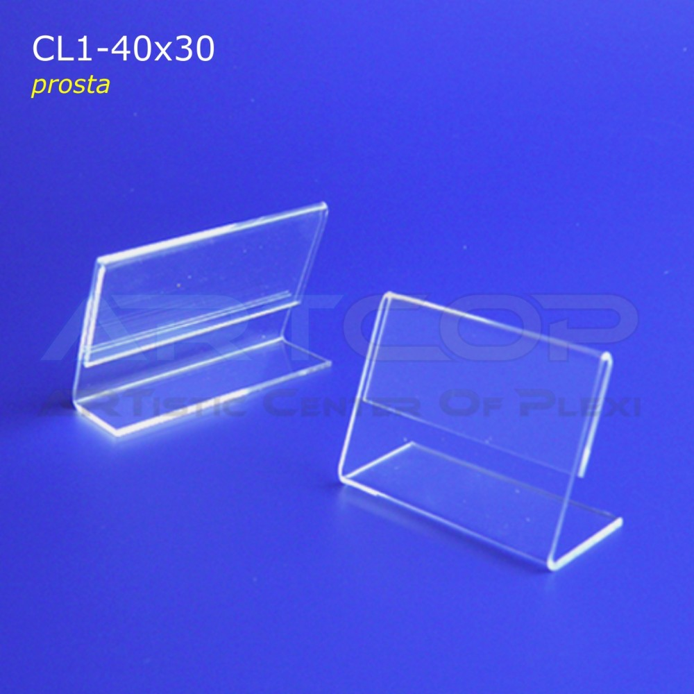 Cenówka 40x30 z plexi, prosta CL1
