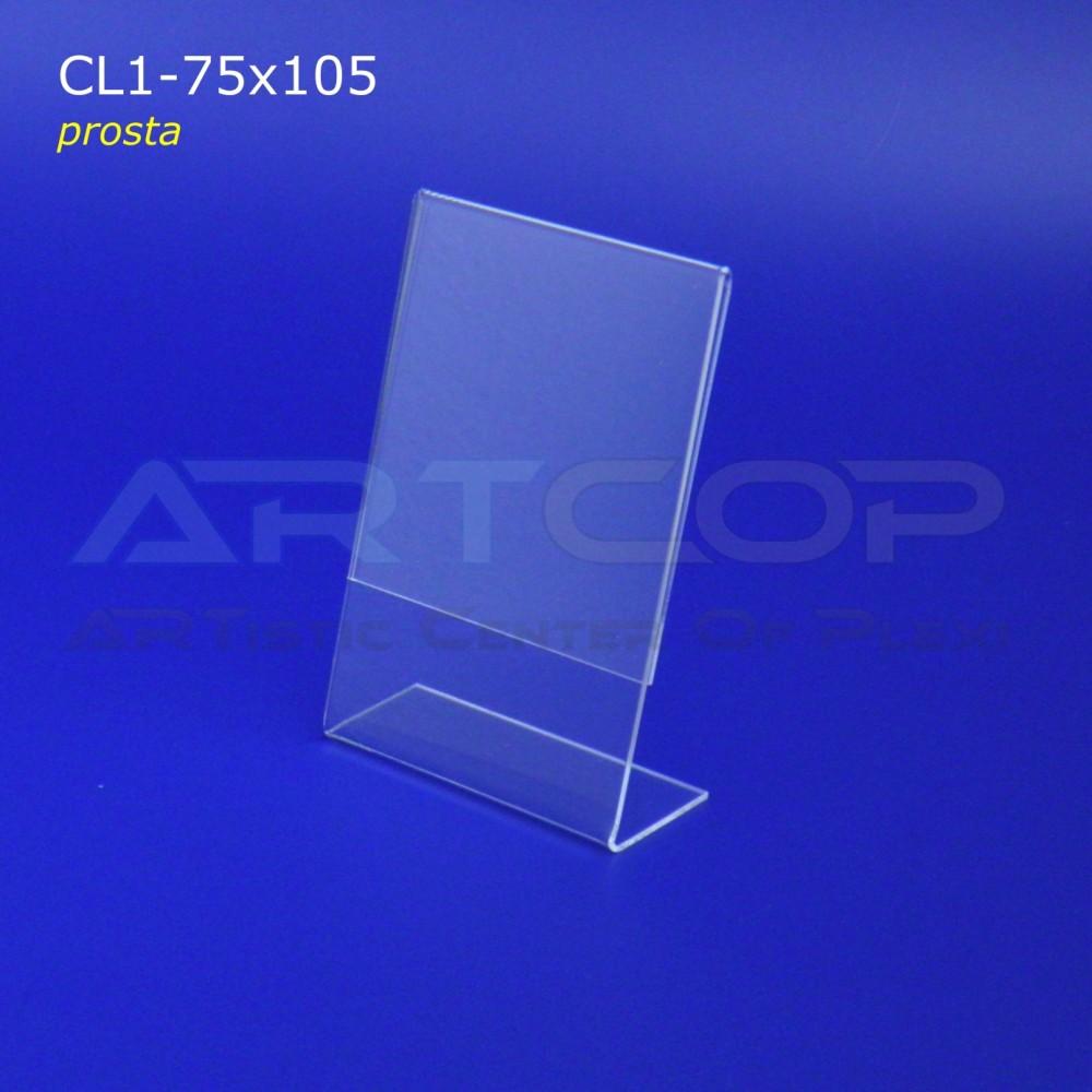 Cenówka 75x105 z plexi, prosta CL1