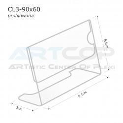 Cenówka 90x60 z plexi, profilowana CL3