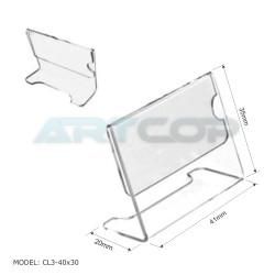 Cenówka 40x30 z plexi, profilowana CL3
