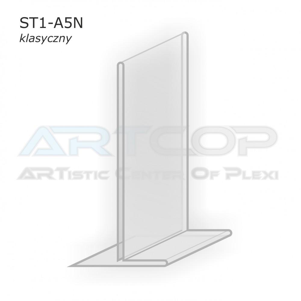 Stojak info A5 PION typ T z plexi (klasyczny) - ST1