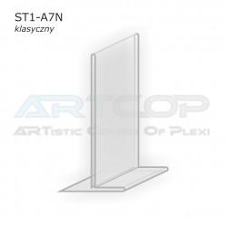 Stojak info A7 PION typ T z plexi (klasyczny) - ST1