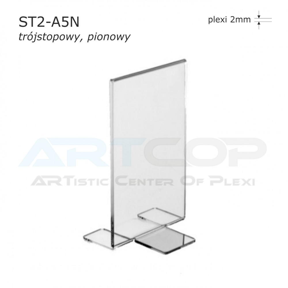 Stojak info A5 PION typ T - ST2 trójstopowy