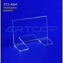 Stojak info A6 poziom typ T - ST2 trójstopowy