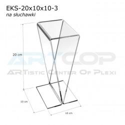 Podstawka, stojak na słuchawki EKS-20x10x10-3