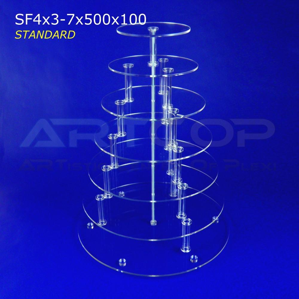 Patera KOŁOWA - 7 blatów 500x100 wersja STANDARD z plexi 5mm