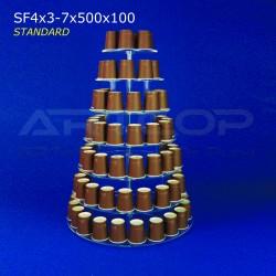 Patera KOŁOWA - 7 blatów 500x100 SF4x3-7x500x100