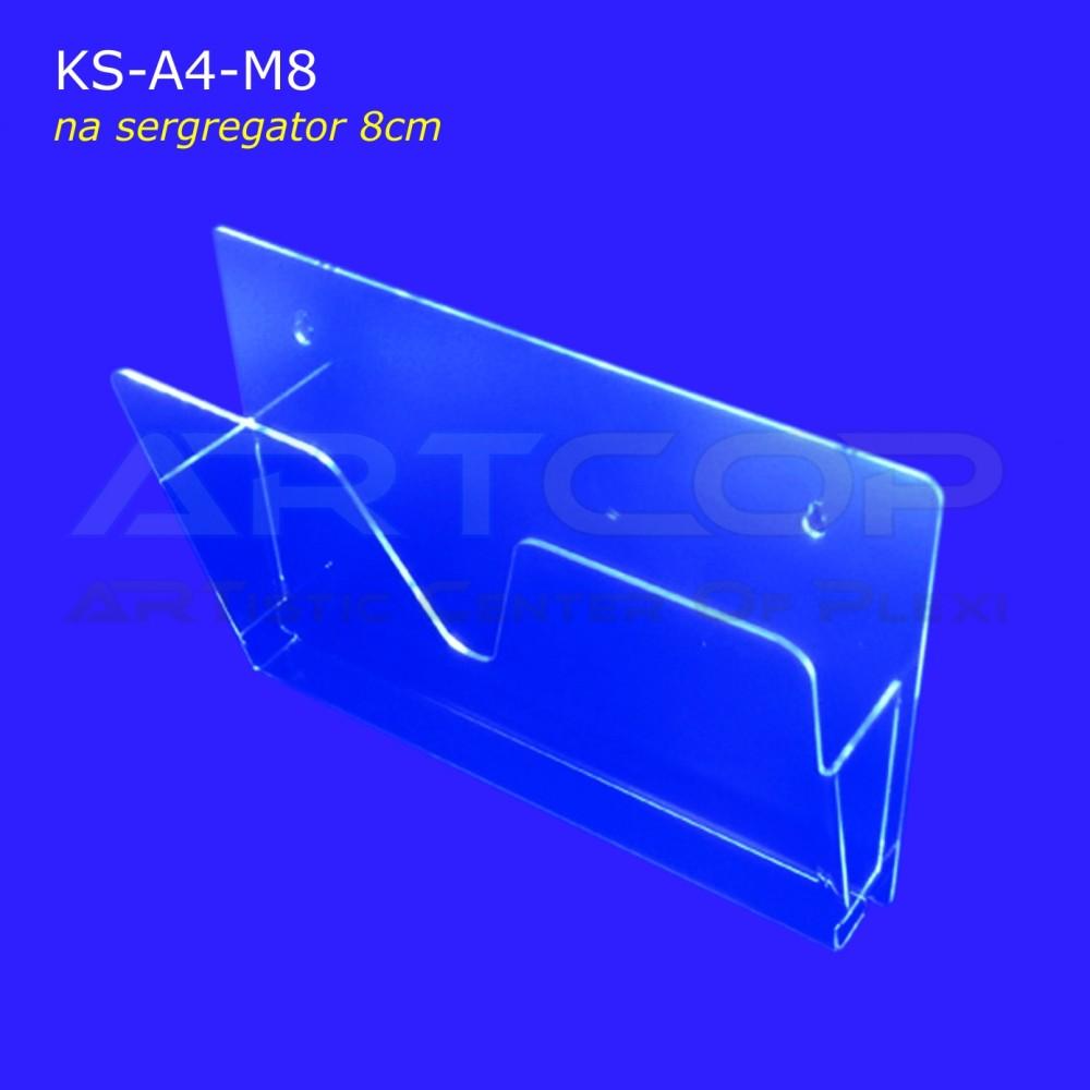 Kieszeń z plexi na segregator gr. 5cm KS-A4-M-8