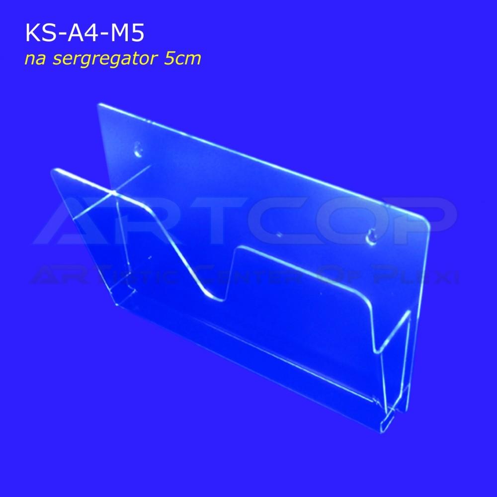 Kieszeń z plexi na segregator gr. 5cm KS-A4-M-5