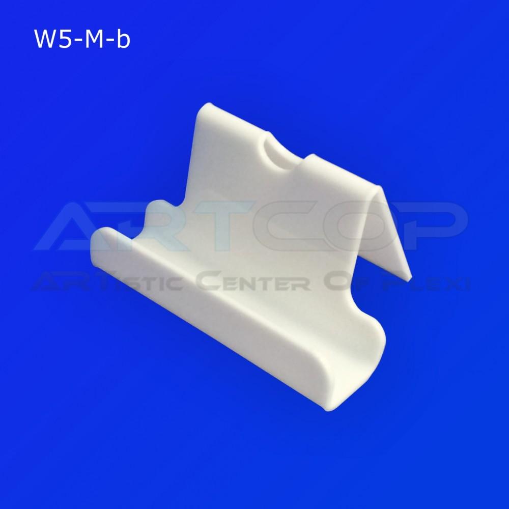 Wizytownik prosty z wcięciem W5-M - biały