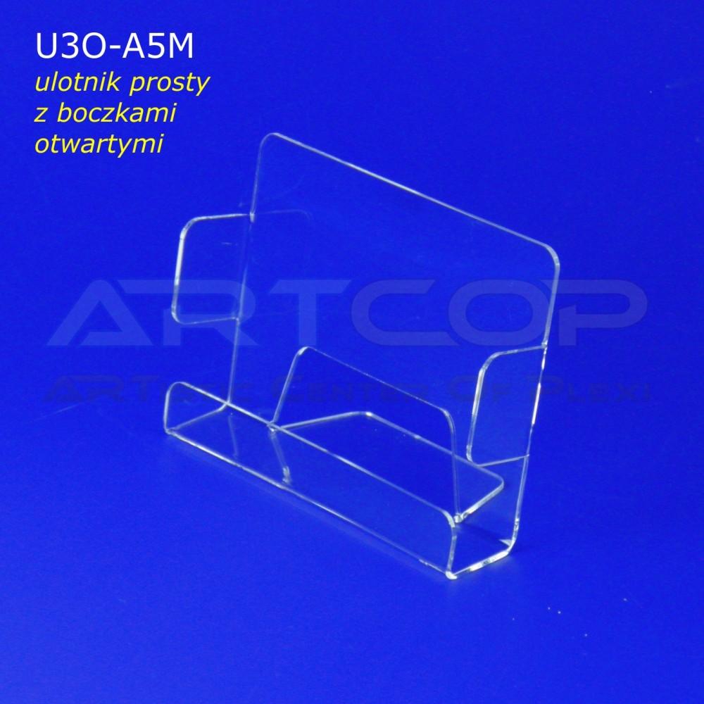 Ulotnik A5 POZIOM z bokami otwartymi U3O-A5M