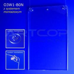 Plakatownik B0 PION z systemem montażowym - model O3W1