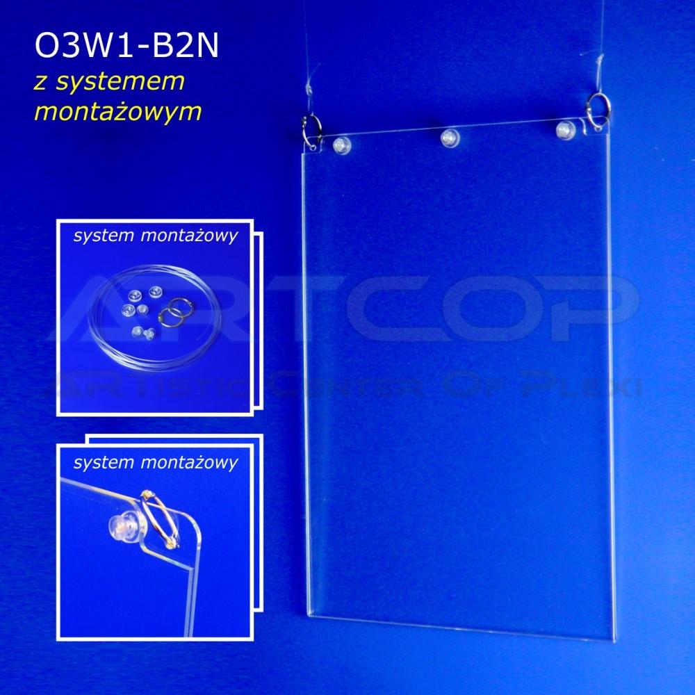 Plakatownik B2 PION z systemem montażowym - model O3W1