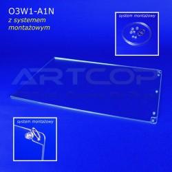 Plakatownik A1 PION z systemem montażowym - model O3W1