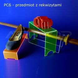 Schodek PC6-neon pomarańczowy - 25x05x8