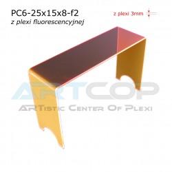 Schodek PC6-neon pomarańczowy - 25x15x8