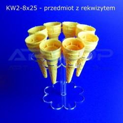 """Podstawka """"Kwiatek"""" na lody KW2-8x25"""