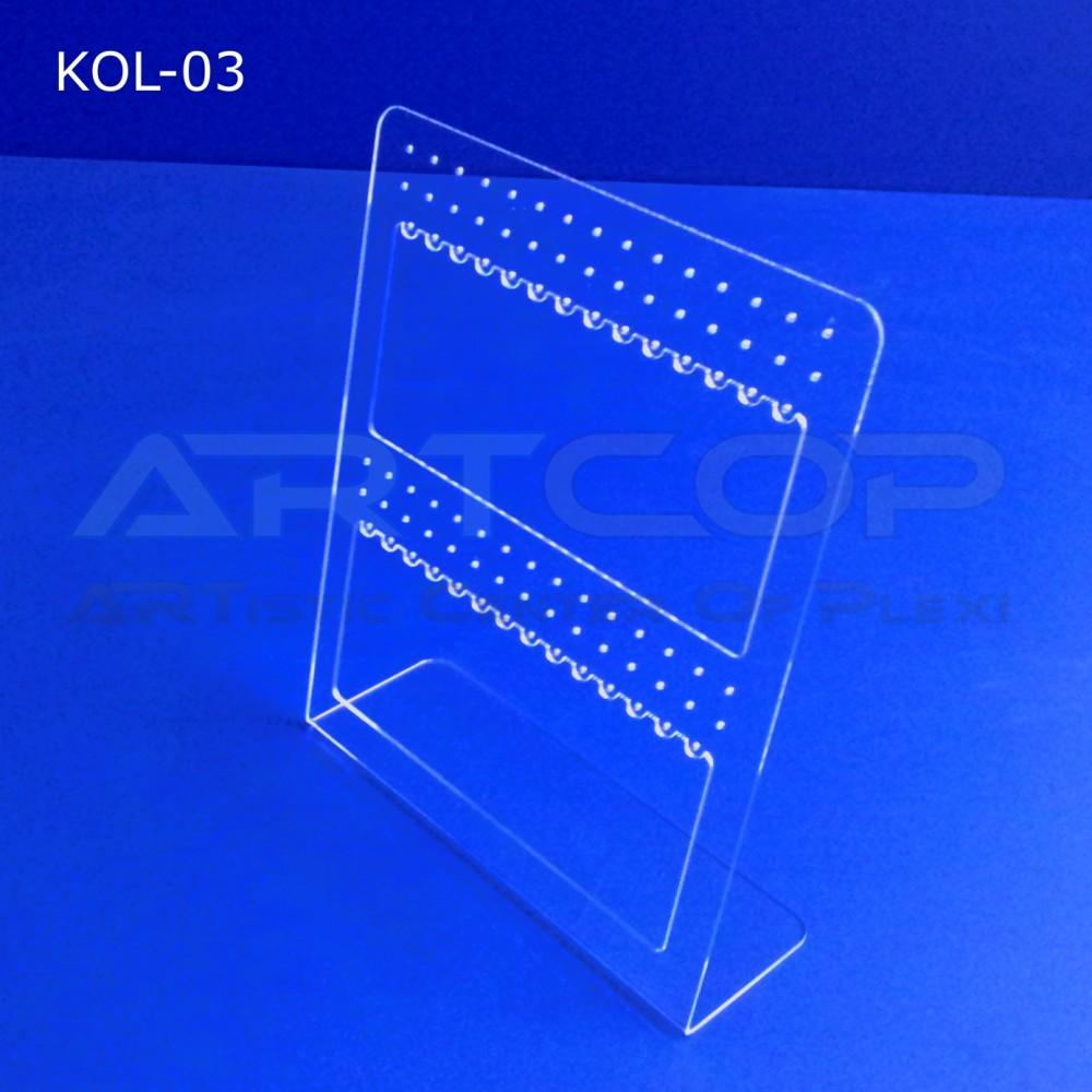 Prezenter na kolczyki z plexi - wiele par, model KOL-03