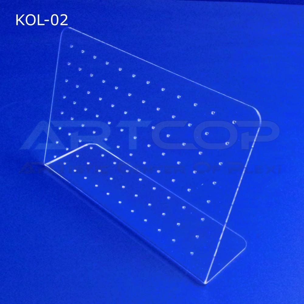 Prezenter na kolczyki z plexi - wiele par, model KOL-02