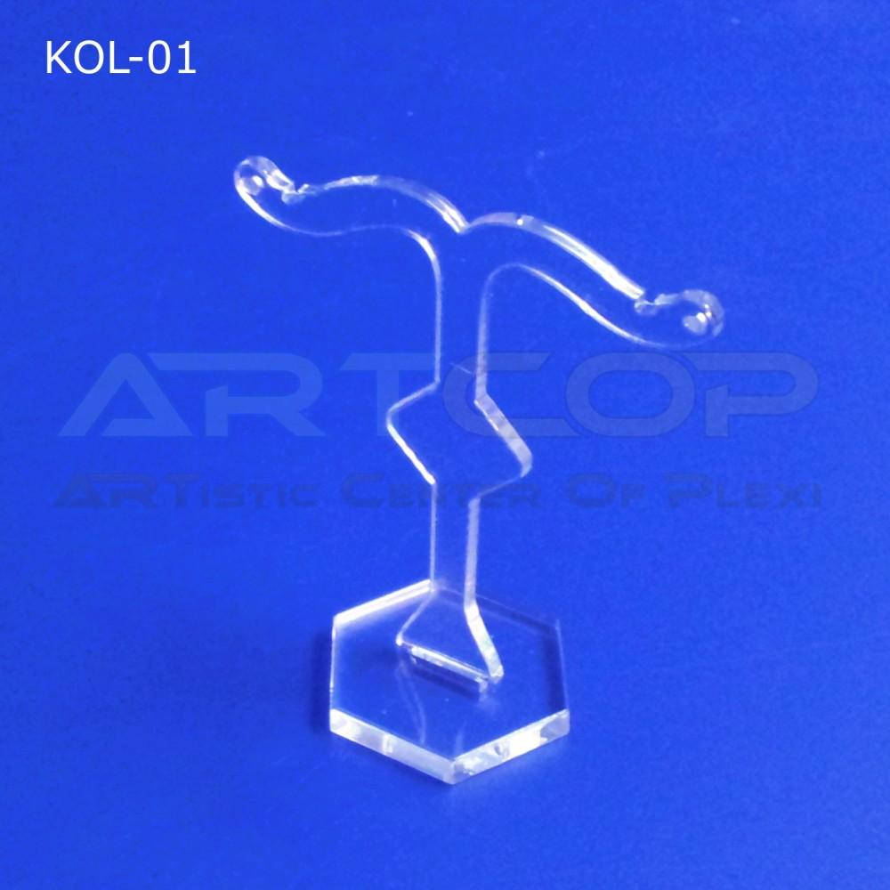 Prezenter na kolczyki z plexi - jedną parę, model KOL-01