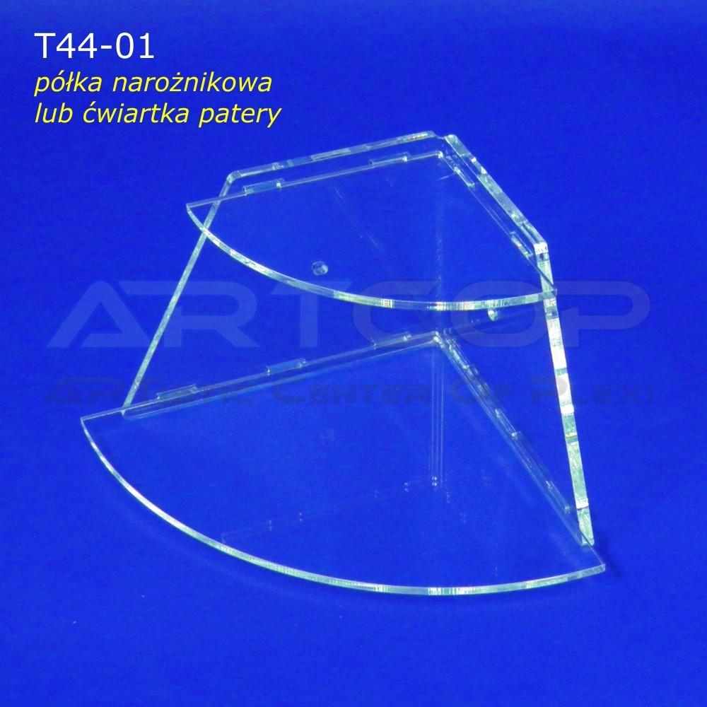 Ekspozytor T44-01, Pólka narożnikowa, Ćwiartka patery składanej