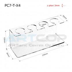 Podstawka PC7 na 4 lody - transparent