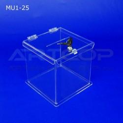 Skarbona z plexi MU1-25 - Urna na ankiety
