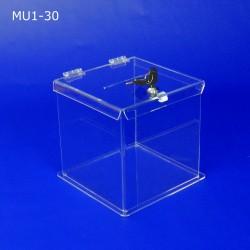 Skarbona z plexi MU1-30 - Urna na ankiety