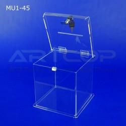 Skarbona z plexi MU1-45 - Urna na ankiety