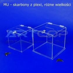 Skarbona z plexi MU1- Urna na ankiety