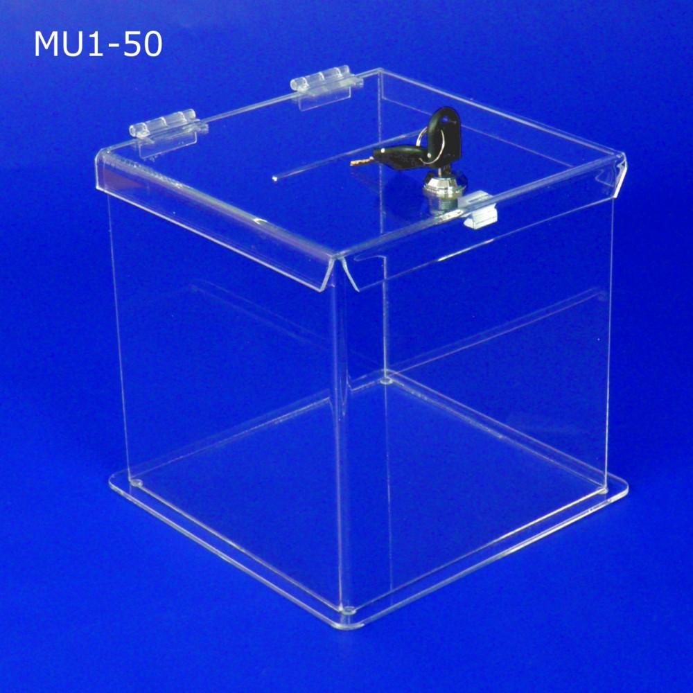Skarbona z plexi MU1-50 - Urna na ankiety
