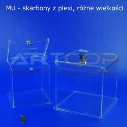 Skarbona z plexi MU1 - Urna na ankiety
