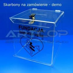 Skarbona z plexi MU1 - Urna na ankiety, demo