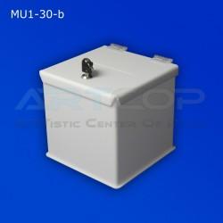 Skarbona biała MU1-30-b na zbiórki, urna na ankiety