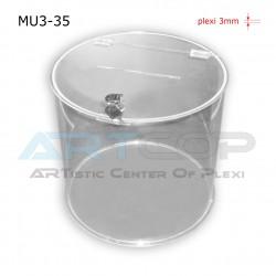 Skarbona fi 35cm, Urna cylindryczna na fundusze lub ankiety