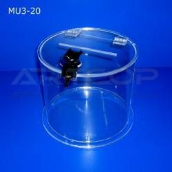 Skarbona fi 20cm, Urna cylindryczna na fundusze lub ankiety